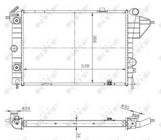 513508A NRF Радиатор охлаждения двигателя OPEL VECTRA (пр-во NRF)
