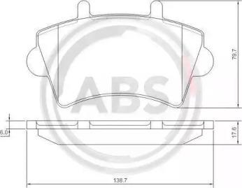 37290 A.B.S. Колодка торм. диск. OPEL/RENAULT MOVANO/MASTER передн. (пр-во ABS)