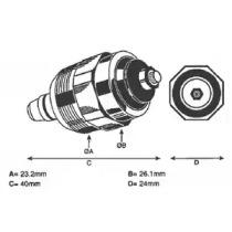 Фотография Стопорный механизм, система впрыска DELPHI 7240112-1